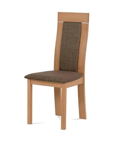 Sconto Jedálenská stolička ELENA buk/tmavohnedá