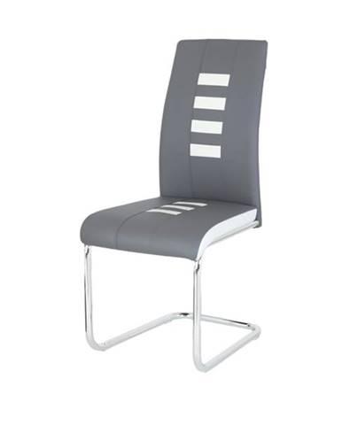 Jedálenská stolička ANASTASIA sivá/biela