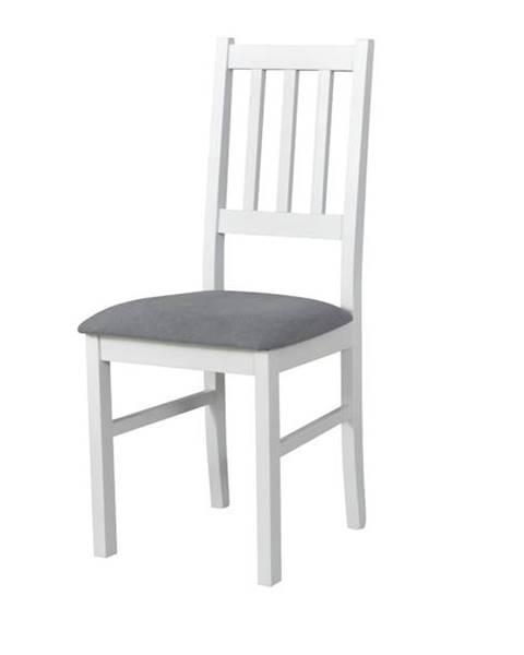 Sconto Jedálenská stolička BOLS biela/sivá