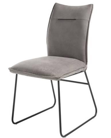 Jedálenská stolička BETTY sivá/čierna
