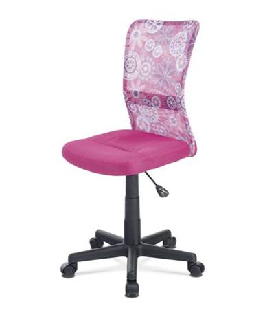Kancelárska stolička BAMBI ružová s motívom