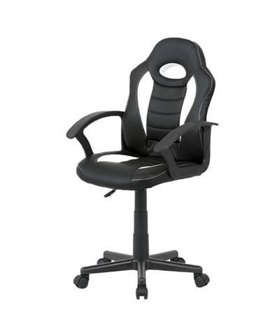 Kancelárska stolička FRODO biela/čierna