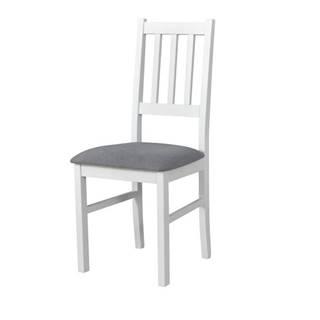 Jedálenská stolička BOLS biela/sivá