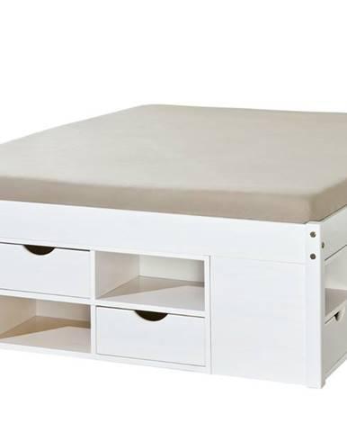 Posteľ SCALLA biela, 140x200 cm