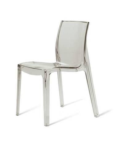 Jedálenská stolička FEMME FATALE transparentná
