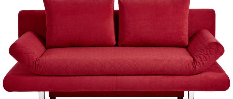 Xora ROZKLADACIA POHOVKA, textil, červená - červená